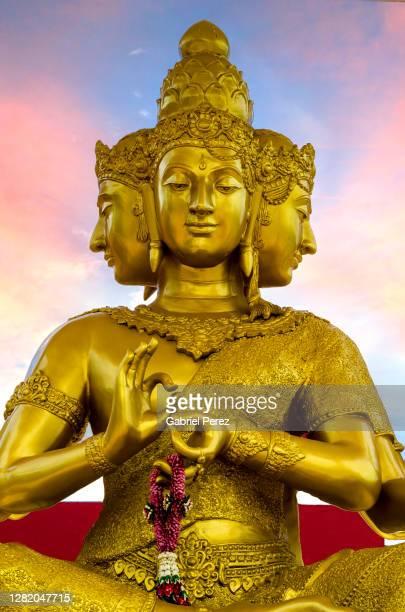 a statue of brahma - シバ神 ストックフォトと画像