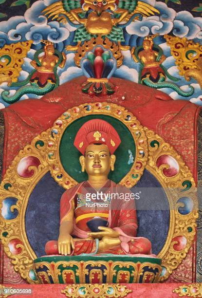 Statue of Buddha at the Lamayuru Monastery in Lamayuru Ladakh Jammu and Kashmir India