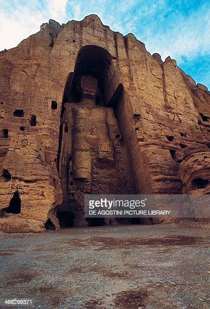 Statue of Buddha Bamiyan Afghanistan 5th century It was destroyed by the Taliban in March 2001