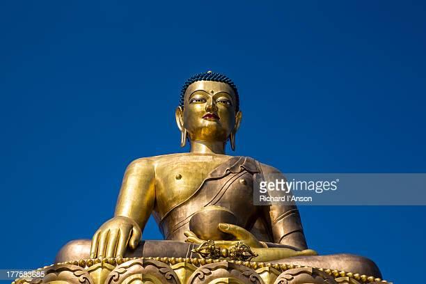 statue of buddha dordenma - ティンプー ストックフォトと画像