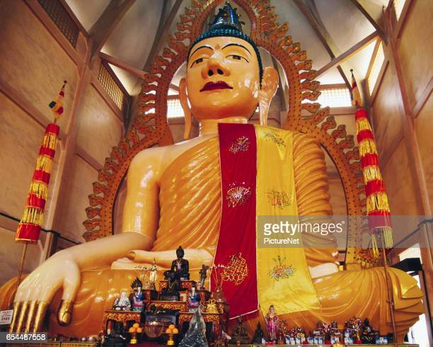 Statue of Buddha in Temple of One Thousand Lights, Singapore