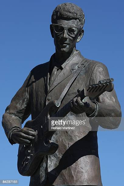 A statue of Buddy Holly at Buddy Holly Plaza on November 8 2008 in Lubbock Texas Februray 3 2009 will be the 50th anniversary of what is referred to...