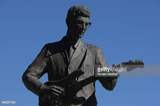 Statue of Buddy Holly at Buddy Holly Plaza on November 8, 2008 in Lubbock, Texas. Februray 3, 2009 will be the 50th anniversary of what is referred...