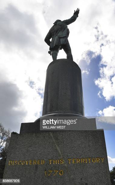 A statue of Captain James Cook stands in Sydney's Hyde Park on August 25 as Prime Minister Malcolm Turnbull labelled calls to change colonialera...