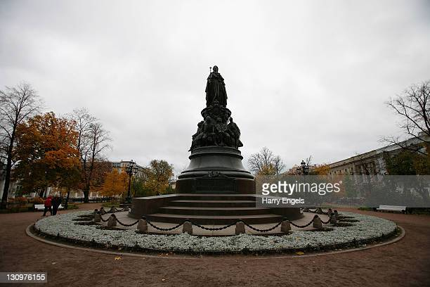 A statue of Catherine the Great on October 30 2011 in Saint Petersburg Russia St Petersburg Russia's second largest city is one of thirteen proposed...