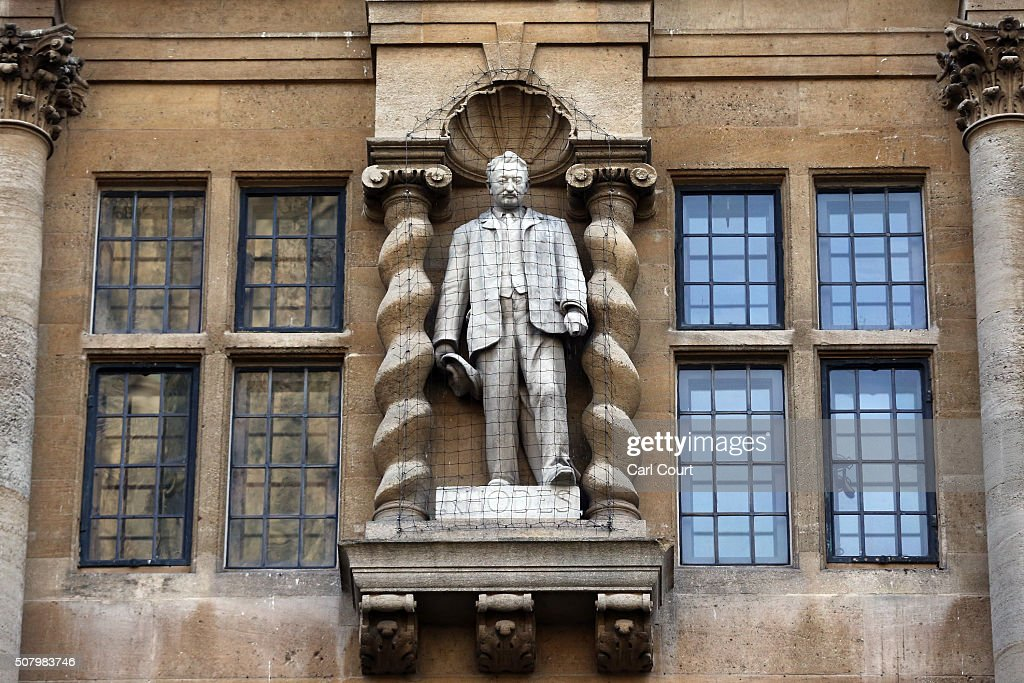 Oxford University Won't Bow To Pressure To Remove Statue Of 19th Century  Colonialist Sir Cecil Rhodes : News Photo