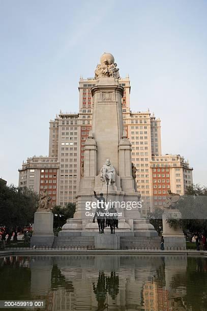Statue of Cervantes, Don Quijote and Sancho Panza, Plaza de Espana
