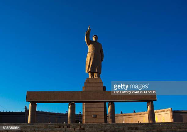 Statue of chairman Mao in center square in Kashgar Xinjiang Uyghur Autonomous Region China Xinjiang Uyghur Autonomous Region China on September 20...