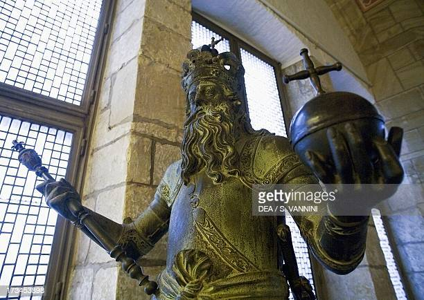 Statue of Charlemagne Town Hall of Aachen RhinelandWestphalia Germany
