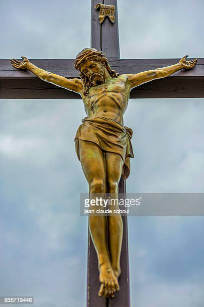 Statue of Christ in the Cross in poznan district (poland)