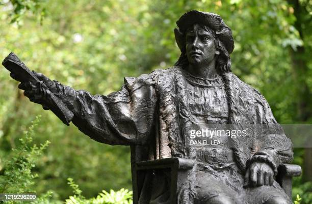 A statue of Christopher Columbus is pictured in Belgrave Square in London on June 11 2020 Clive began his career as a British military officer and...