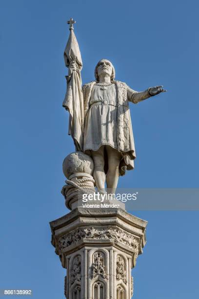 statue of columbus (madrid) - monument stock pictures, royalty-free photos & images