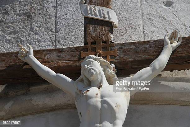 Statue Of Crucified Jesus Christ At Church
