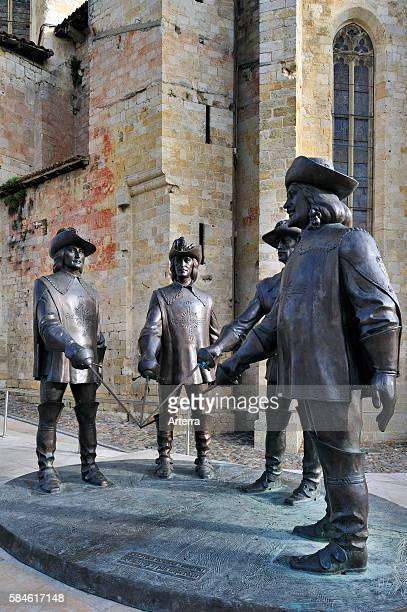 Statue of d'Artagnan and The Three Musketeers at Condom Pyrenees France