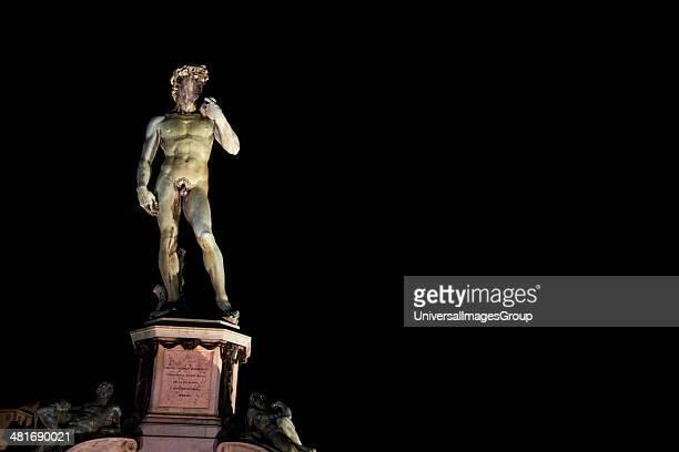 Statue of David Ponte Vecchio Florence Tuscany Italy