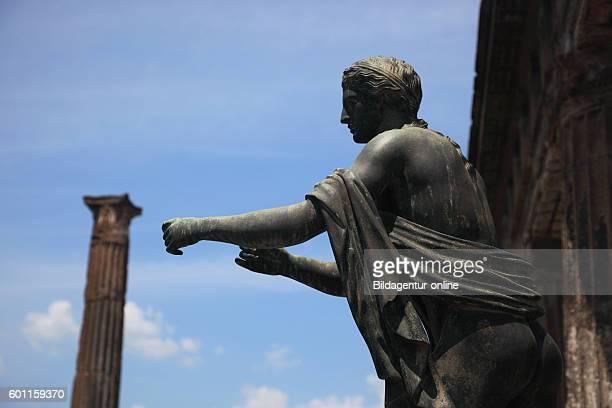 Statue of Diana in the Temple of Apollo Pompeii Campania Italy