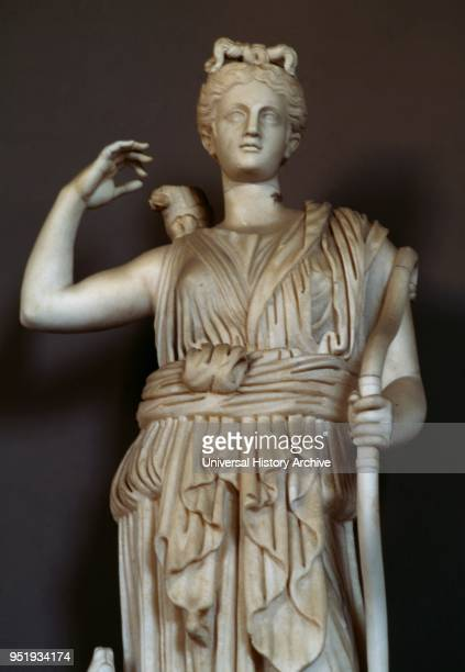 Statue of Diana the Huntress in the Vatican Museums. Ist century AD.