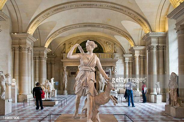 Statue of Diane at Louvre Museum.
