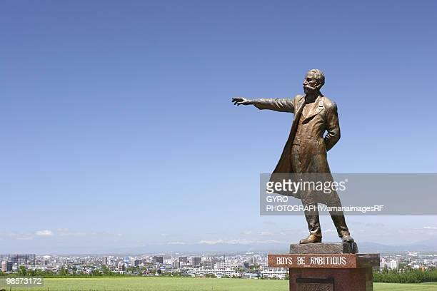 Statue of Dr. Clark, copy space, Sapporo city, Hokkaido prefecture, Japan