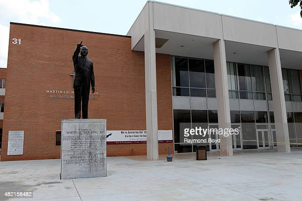 A statue of Dr Martin Luther King Jr stands outside the Martin Luther King Jr International Chapel at Morehouse College on July 18 2015 in Atlanta...