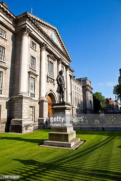 Statue of Edmund Burke at Regent House entrance to Trinity College on College Green.
