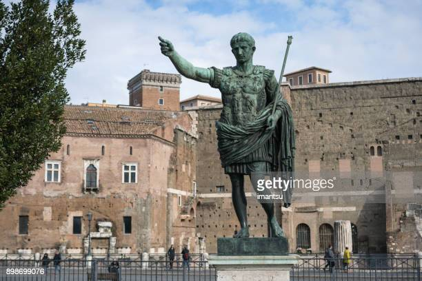 statue of emperor caesar - dictator stock pictures, royalty-free photos & images