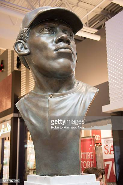 Statue of Ferguson Arthur Jenkins Baseball In Vaughan Mills Mall First Canadian ever in the Baseball Hall of Fame