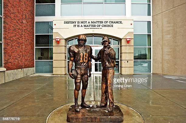 Statue of Football Player and Coach, Memorial Stadium, University of Nebraska - Lincoln