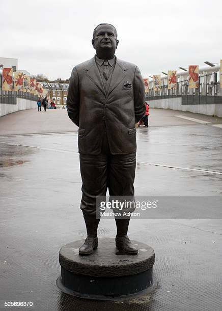 A statue of former Arsenal manager Herbert Chapman outside the Emirates Stadium home of Arsenal