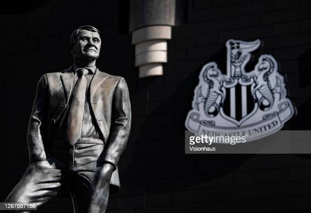 Statue of former manager Sir Bobby Robson outside St James' Park, home of Newcastle United on August 20, 2020 in Newcastle, United Kingdom.