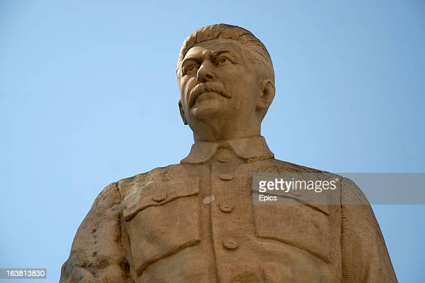 A statue of former Soviet statesman and communist leader Joseph Stalin which stands outside the Stalin Museum in his birthplace of Gori Georgia 16th...