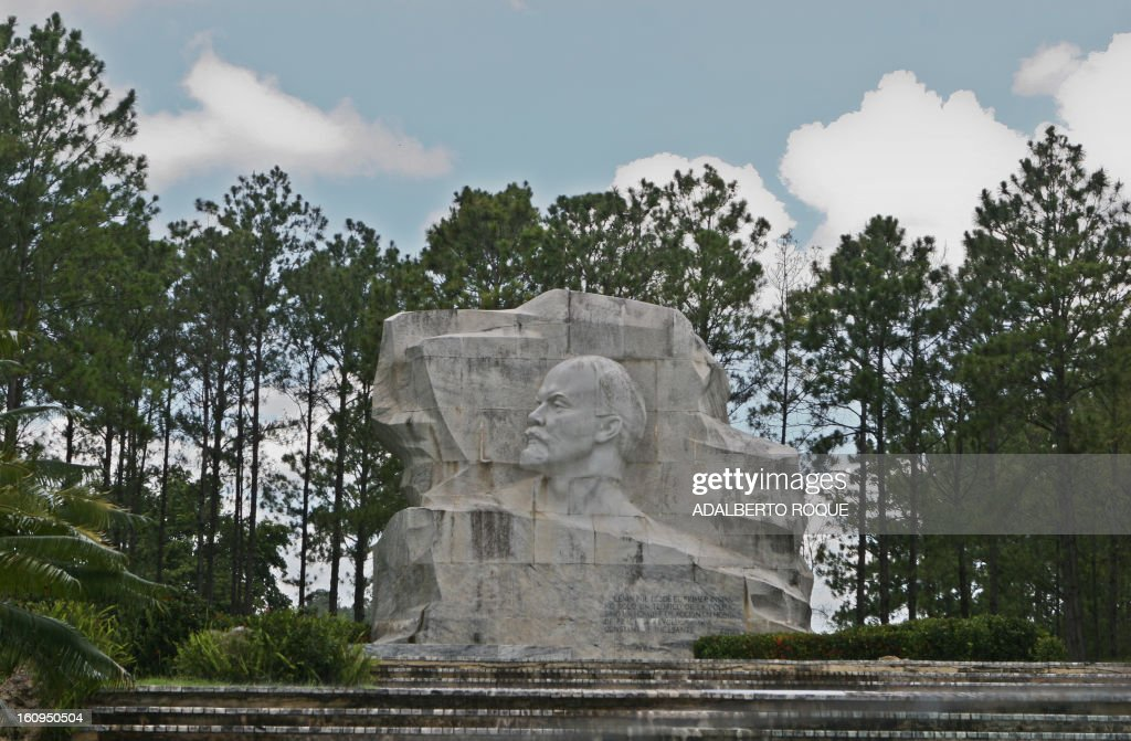 A statue of former Soviet Union Hero, Vladimir Ilich Lenin is seen at Lenin Park in Havana, on February 26, 2010.