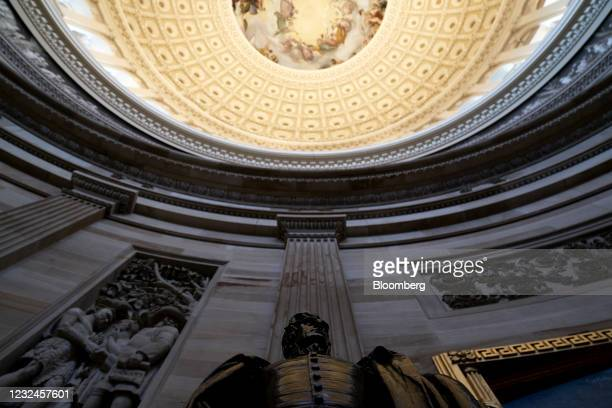 Statue of former U.S. President Andrew Jackson in the rotunda of the U.S. Capitol in Washington, D.C., U.S., on Thursday, April 22, 2021. Congress is...