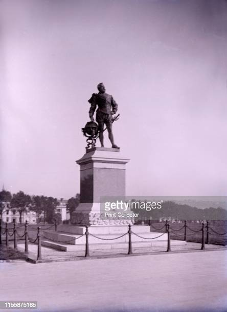 Statue of Francis Drake on Plymouth Hoe in Devon late 19thearly 20th century Sculpture by Joseph Boehm erected in 1883 of English adventurer and...