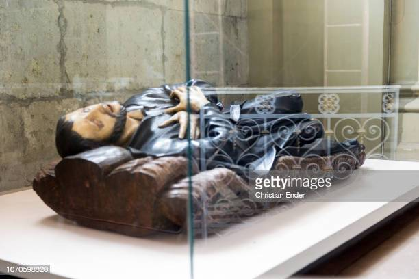 Santiago de Chile Chile January 29 2015 Statue of Francis Xavier a work of German Jesuit brothers in the 18th century in the sacristy of the...