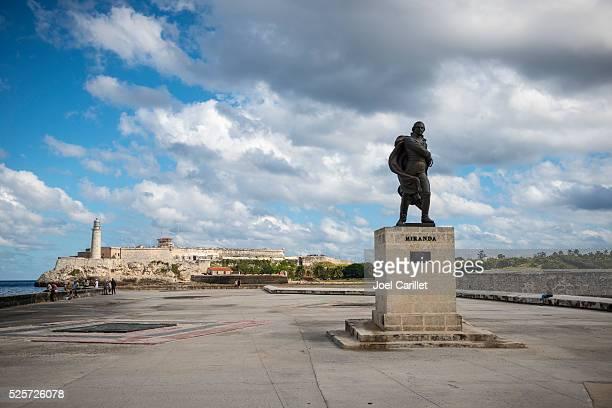 Statue of Francisco de Miranda in Havana, Cuba