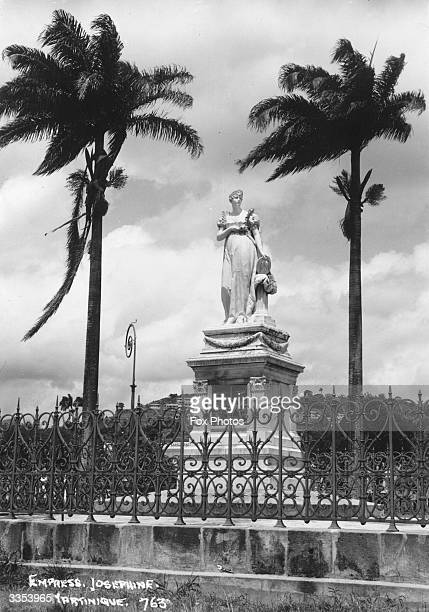 Statue of French empress Josephine , wife of Napoleon, on the island of Martinique, her birthplace.