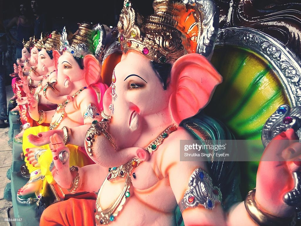 Statue Of Ganesha For Sale During Festival : Stock Photo