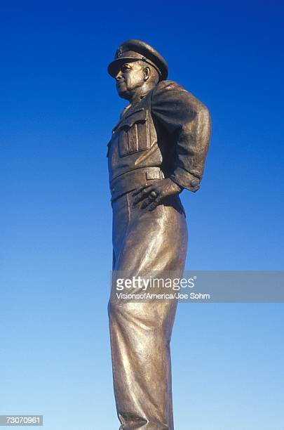 """Statue of General Dwight D. Eisenhower, US Military Academy, West Point, New York in Autumn"""