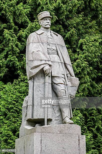 Statue of general Ferdinand Foch Allied Generalissimo during the First World War at the Glade of the Armistice / Clairire de l'Armistice WWI...