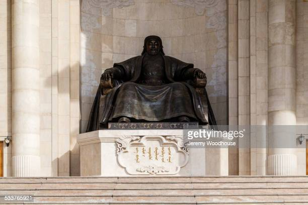 Statue of Genghis Khan at government building, Ulaanbaatar, Mongolia