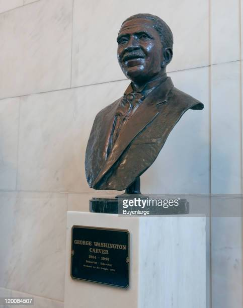 Statue of George Washington Carver at the Alabama Department of Archives and History Montgomery Alabama 2010