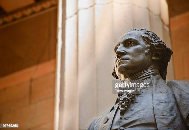 statue of george washington - president stock pictures, royalty-free photos & images