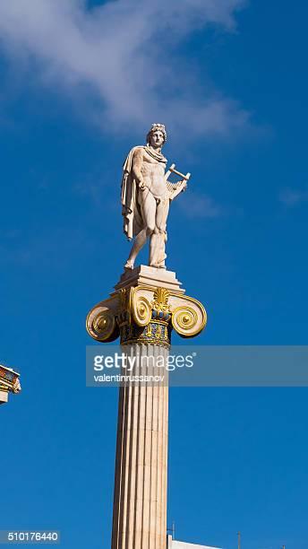 Statue de du dieu Apollon de l'Académie d'Athènes, en Grèce