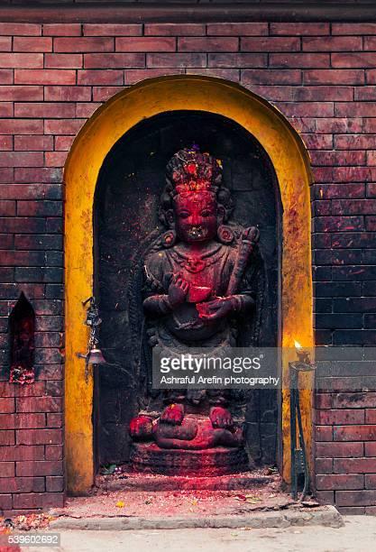Statue of God Bhairav from street of Kathmandu