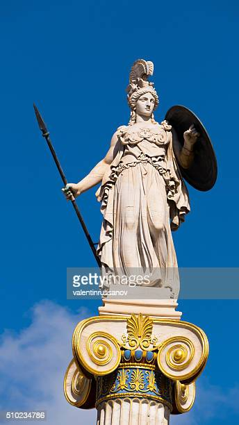 Statue of Goddess Athena from the Academy in Athens, Greece