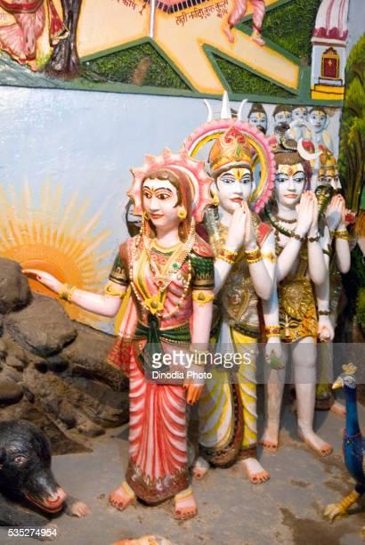 Statue of gods in Sati anusaya temple, Chitrakoot , Uttar Pradesh, India.