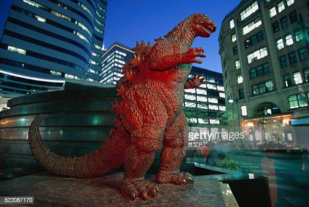Statue of Godzilla in Hibiya District, Tokyo