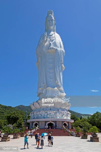 Statue of Guanyin in Linh Ung Pagoda in Da Nang