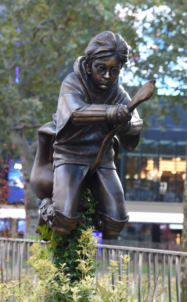 GBR: Harry Potter Statue Unveiling In Leicester Square